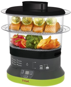T-fal VC133851 Balanced Living Compact 4-Quart 2-Tier Electric Food Steamer